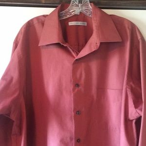 Geoffrey Beene XL Salmon Dress Shirt